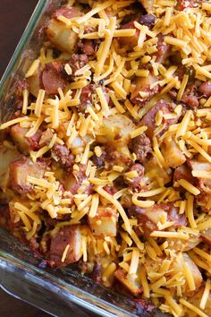 Eat Cake For Dinner: Chili Cheese Baked Potato Casserole Chilli Casserole, Cheese Potato Casserole, Chili Baked Potato, Roasted Potatoes, Banana Oatmeal Cookies, Potato Dinner, Beef Recipes For Dinner, One Pot Meals, Eat Cake
