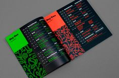 A division of UnderConsideration, celebrating the reality that print is not dead by showcasing the most compelling printed projects. Conference Branding, Conference Program, Conference Agenda, Event Branding, Branding Design, Signage Design, Corporate Branding, Schedule Design, Booklet Design