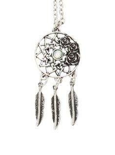 LOVEsick Rose Dreamcatcher Necklace