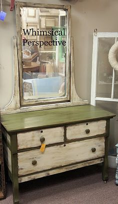 Whimsical Perspective - Rustic Cabin Dresser - Annie Sloan Chalk Paint