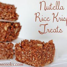 Nutella Rice Krispie Treats Recipe