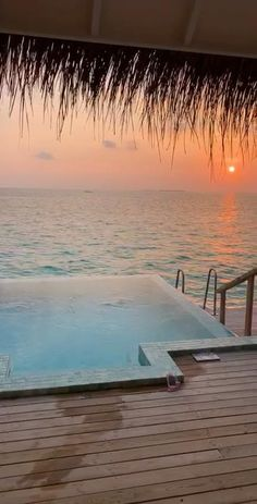 Romantic Sunsets in the Maldives