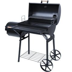 broil-master Charcoal BBQ Grill Wagon Smoker with 5 Grill Grates Terrace Garden Camping Barbecue---144.63---