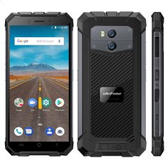 """Ulefone Armor X Vandtæt IP68 Smartphone 5,5 """"HD Quad Core Android 8.1 2GB + 16GB 13MP NFC Face ID 5500mAh Trådløs opladningstelefon"""