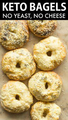 Low Carb Bagels, Keto Bagels, Low Carb Keto, Cheese Bagels, Keto Pancakes, Gluten Free Bagels, Dairy Free Keto Recipes, Ketogenic Recipes, Ketogenic Diet