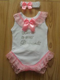 Romany/Gypsy baby girls frilly bling crystal vest and headband set | eBay