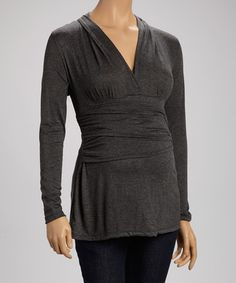 Another great find on #zulily! Charcoal Maternity Drape Top #zulilyfinds
