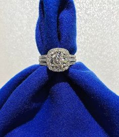 3 Strand Vintage Halo Diamond Engagement Ring by Tacori | SKU: 0393604 http://www.robbinsbrothers.com/Engagement-Rings/Ring-With-Sidestones/Tacori-i63299.ring