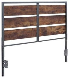 Image result for headboards ideas metal wood industrial