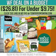 Whole Foods On a budget under $9.75 for ($26) of groceries print the coupons GO to link in my bio @tomorrowsmom for details . . . . Visit My Blog: TomorrowsMom.com  Organic & Natural Deals Family Savings Deals  . TAG OR DM THIS DEAL 2 A FRIEND . . #frugal #savings #deals #cosmicmothers  #organic #fitmom #health101 #change #nongmo #organiclife #crunchymama #organicmom #gmofree #organiclifestyle #familysavings  #healthyhabits #lifechanging #fitpeople #couponcommunity #deals  #healthyppl…
