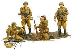 Soviet infantry, 1944-1945