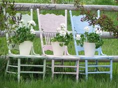pressed wood chairs in pastels