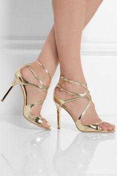 Jimmy Choo metallic leather sandals http://rstyle.me/n/jb6jrr9te