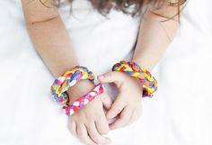 Fun Paper Craft for kids and adults: Learn how to make bracelets using leftover crepe paper!