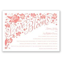 Love Blooms - Apple - Invitation | Invitations By David's Bridal