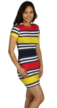 Pretty multi-colored jersey dress. Cute!!