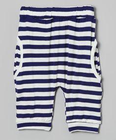 Blue Stripe Harem Pants - Infant by Leighton Alexander #zulily #zulilyfinds