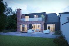 Award winning Chartered Architect based in Sutton Coldfield in the West Midlands Brick Extension, Sutton Coldfield, West Midlands, Mansions, House Styles, Design, Home Decor, Decoration Home, Manor Houses