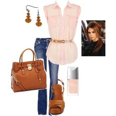 A fashion look from August 2012 featuring Rock Revival jeans, Roberto Del Carlo sandals and MICHAEL Michael Kors bags. Browse and shop related looks.