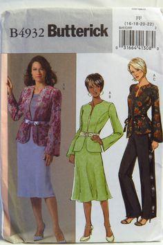 Butterick 4932 Misses'/Misses' Petite Jacket, Skirt and Pants