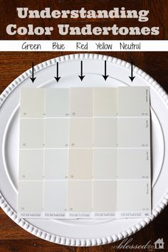Understanding Color Undertones - Compare paint samples to white. It is the easiest way to determine what undertone a color has.