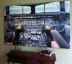 Vintage Cockpit Canvas Triptych