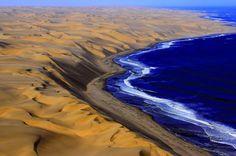 deserto del namib incontra l'oceano atlantico