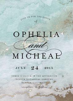 wedding invitations - Gilded Shore by Grace Kreinbrink