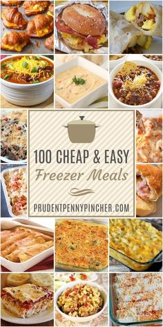 These cheap and easy freezer meals are the perfect make-ahead option for busy weekdays. From casseroles to soups, there are plenty of delicious freezer-friendly recipes. meals recipes 100 Cheap and Easy Freezer Meals Freezer Friendly Meals, Make Ahead Freezer Meals, Freezer Cooking, Frugal Meals, Budget Meals, Kid Meals, Camping Meals, Meals That Freeze Well, Make Ahead Casseroles
