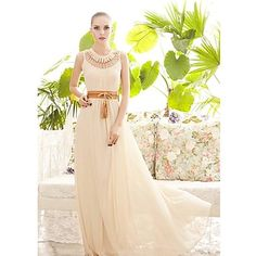 37.79  Women s Boho Party Maxi Swing Dress - Solid Colored Pleated Crew  Neck Beige Red Green M L f4e1e1d3401