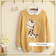 Buy 'Fairyland – Giraffe Appliqué Sweater' with Free International Shipping at YesStyle.com. Browse and shop for thousands of Asian fashion items from China and more!