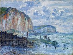 Cliffs Of The Petites Dalles By Monet Claude . Truly Art Offers Giclee Unframed Prints on Paper, Canvas Art, and Framed Art in all our Collections. Monet Paintings, Impressionist Paintings, Impressionism, Claude Monet, Artist Monet, Oil Painting Reproductions, Art Institute Of Chicago, Museum Of Fine Arts, Pictures To Paint