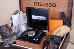 "Dilusso Surprise Box: The Custom Curated 'Luxury Surprise Box' For Men - on aBlogtoWatch.com ""So, what can you expect from a Dilusso Surprise Box? We start with a hand-crafted solid mahogany box, which is a luxury keepsake in and of itself. Then, as a centerpiece of the Dilusso Surprise Box, we include one of our personal favorite luxury items, a Swiss made mechanical watch from the likes of Rolex, Panerai, and Hublot..."""