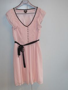 Kleid H rosa schwarz Gr. 38