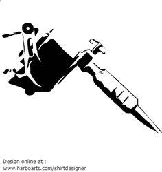 Tattoo Machine Drawing Vector Download : <b>tattoo machine</b> - <b>vector</b> graphic