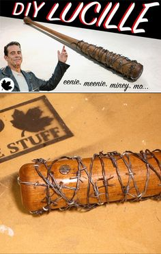 Make Lucille from Walking Dead, bat and all!