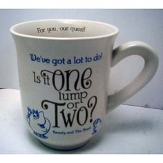Hallmark Disney Collection DYG9634 One Lump Or Two Mug. Adorable! Wouldn't pay this much, maybe ebay?