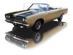1969 Spanish Gold Plymouth Road Runner Convertible 383 Super Commando V8