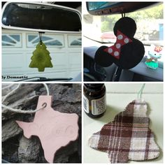 Make a car air freshener (aka essential oil diffuser) to hang from the rearview mirror. Love how personal you can make these!! Use fabric, felt, or air dry clay are create your diffuser in the shape of a favorite movie or cartoon character, in support of a favorite sports team, a nod to someone's favorite hobby, your initials, a motto or favorite saying, the list of ideas could go on and on!!