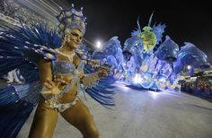 Brazilian Carnival 2014, - Performers from the Salgueiro samba school parade during carnival celebrations at the Sambadrome in Rio de Janeiro, Brazil, Monday, March 3, 2014. (Photo by Nelson Antoine/AP Photo)