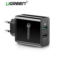 the best Ugreen USB Charger Universal Quick Charge 3.0 30W Fast Mobile Phone Charger(Quick Charge 2.0 Compatible) for Samsung Huawei LG