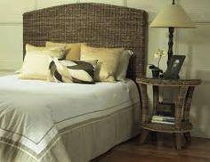 rattan headboard pillow styling queen - Google Search