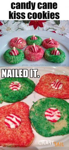 Nailed it! 20 Hilarious Christmas Craft FAILS: FAIL: Candy Cane Kisses