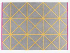 GRID MULTI-COLOURED Wool Geometric patterned rug - Rugs- HabitatUK