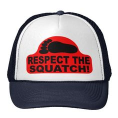 Shop RESPECT THE SQUATCH! Look like a PRO in Bobo's Trucker Hat created by lifeguardshack. Finding Bigfoot, Funny Hats, Custom Big Rigs, Hat Making, American Flag, My Hero, Husband, Mens Fashion, My Love