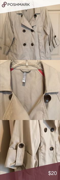 Old Navy Khaki Jacket. 3/4 Length sleeves.  Lightweight.  Excellent Condition.  Seldom worn.  Size L. Old Navy Jackets & Coats Pea Coats