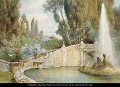 La Fontana Dei Draghi, Rome - Ettore Roesler Franz