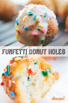 """Funfetti Donut Holes 