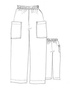 Robbie Pant Pattern – This pull-on cropped pantpattern features an elasticised waist ...