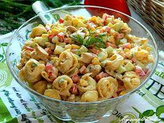 My simple kitchen: Sałatka z kurczakiem i tortellini Tortellini, Pasta Salad, Impreza, Ethnic Recipes, Kitchen, Food, Pies, Crab Pasta Salad, Cooking